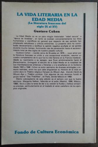 g cohen - la vida literaria en la edad media liter. francesa