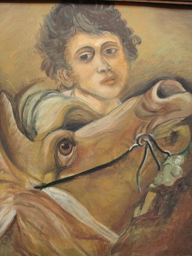 g. lubrano / niño con caballo / oleo / 60 x 50 # 1647