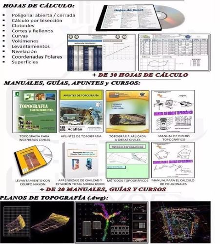 g mapper+ topolig+ civilcad+ g earth topocal full topografía