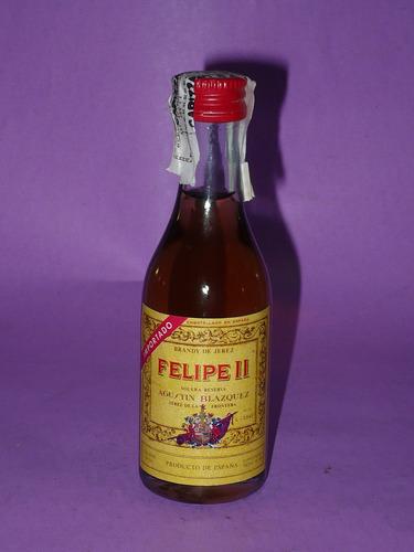 g. pozzolo - botellitas de colec. felipe ii brandy - españa
