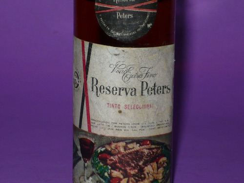 g. pozzolo - botellitas de colec. peters vino reserva tinto
