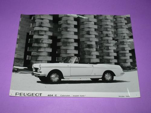 g. pozzolo - foto original peugeot 404 cabriolet grand luxe