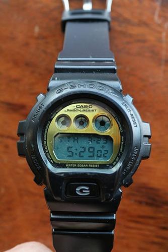 g-shock 6900pl watch - black / gold