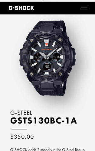 g shock (g stell- gsts130bc-1a)