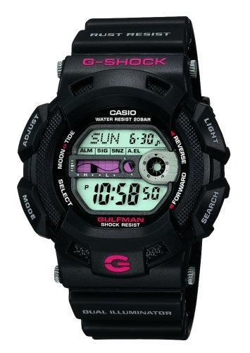 g-shock g9100-1 reloj deporte de resina negro de los hombres