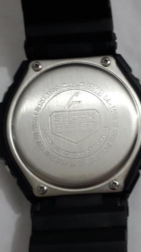 g-shock ga-1000-st.steelbkack original na caixa