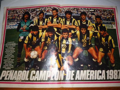 g w el grafica peñarol campein de america 1987