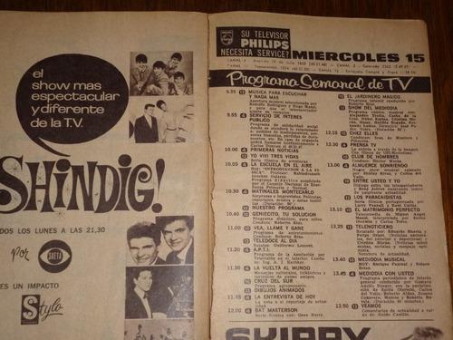 g w revista canal tv años 60 impecable ,ver fotos