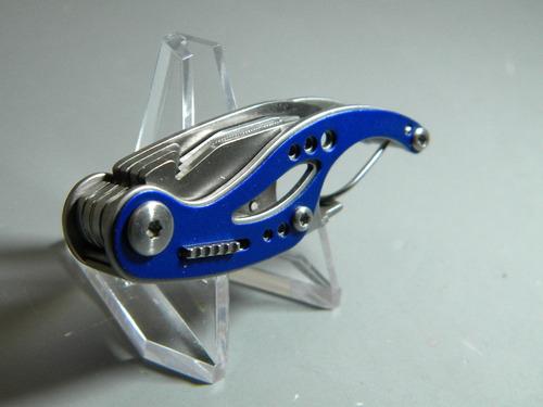 g0116 gerber curve azul multi herramienta llavero mosqueton