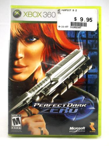 g0320 xbox 360 videojuego videogame perfect dark zero