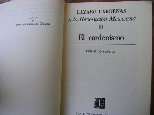 g1 lazaro cardenas.3. el cardenismo. fernando benitez 1980