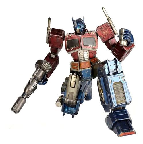 g1 optimus prime figura- transformers - threea - robot negro