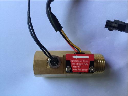 g1/2 macho rosca latón agua flujo sensor de efecto hall 1-25