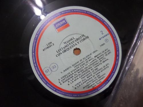 g25 disco de vinilo luciano pavaroti tocadisco