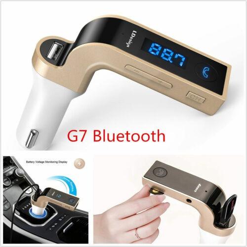 g7 bluetooth coche mp3 música reproductor fm transmisor