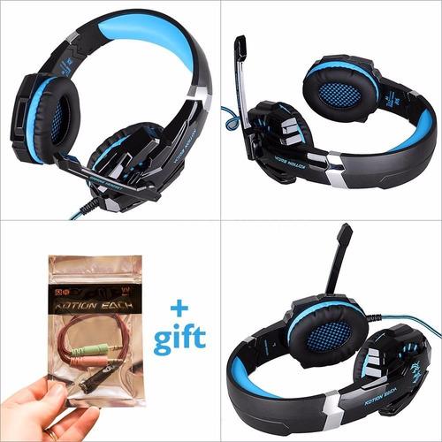 g9000 fone de ouvido gamer headset  microfone pc ps4 xbox l