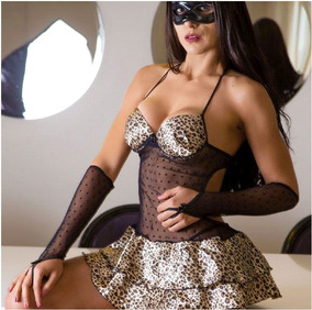 dc03703af Fantasia Sexy Felina no Mercado Livre Brasil