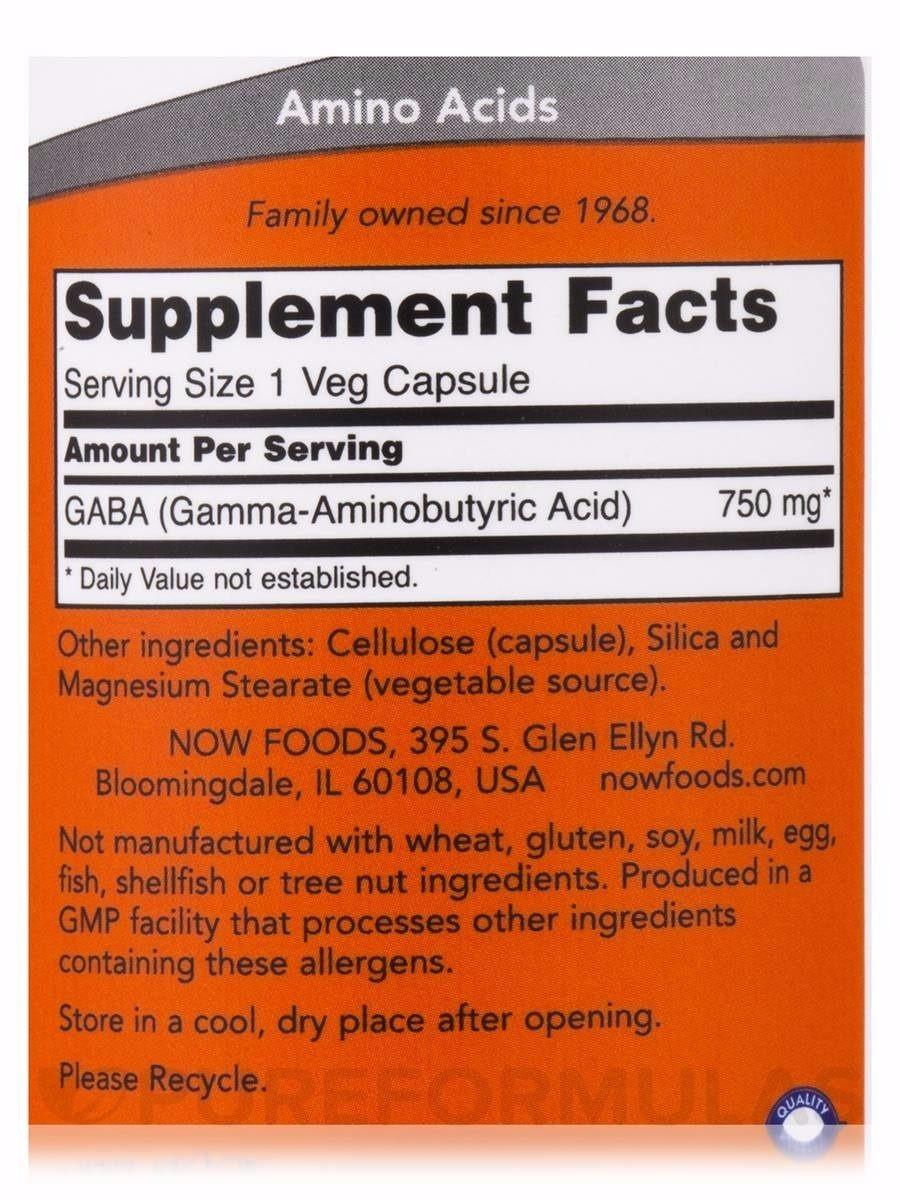 Gaba 750mg 100 Cáps Now Foods - 100% Importado - R$ 100,00 em ...
