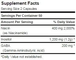 gaba-plus gaba niacina inositol 100 capsulas envio gratis