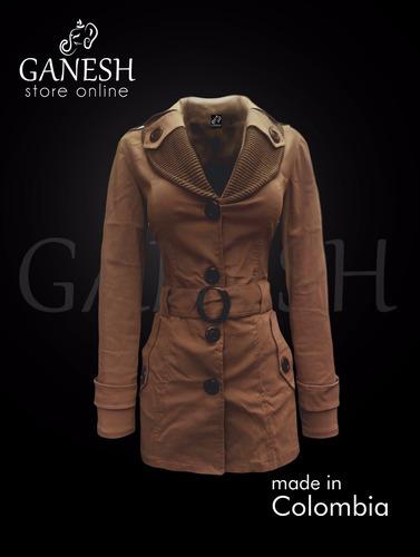 gabán chaqueta abrigo mujer milan ganesh