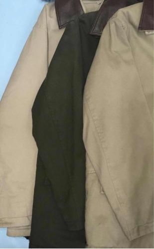 gabán gabardina. hombre. nuevo. verde,beige,camel. v/talles