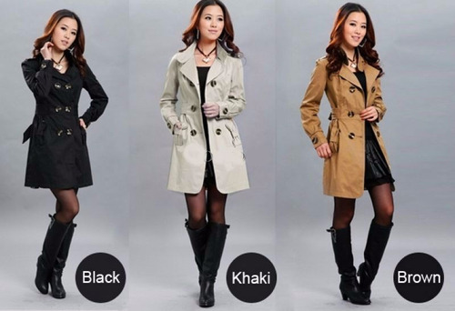 gaban jacket fashion mujer invierno slim warm wool blend tre
