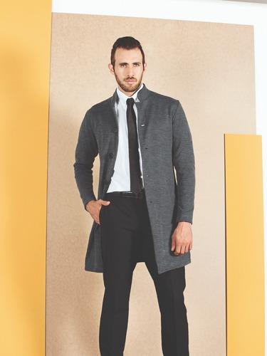gabán outfit totas 640 hombre gris