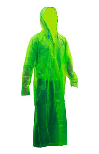 gabardina corta traslucida verde alta visibilidad jyrsa