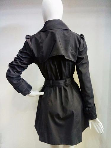 gabardina dama negra