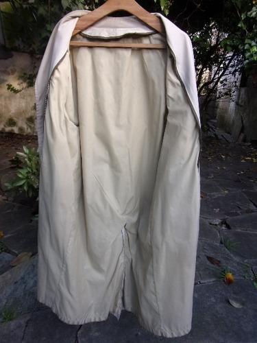 gabardina, trinchera de dama color beige, talle xl