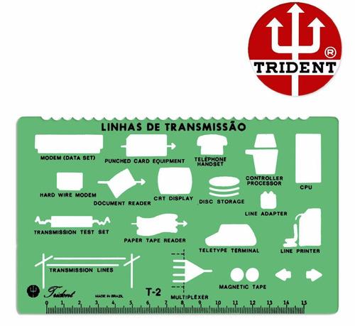 gabarito telefonia t-2 trident -