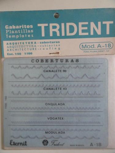 gabarito trident - coberturas mod a-18 cimento amianto