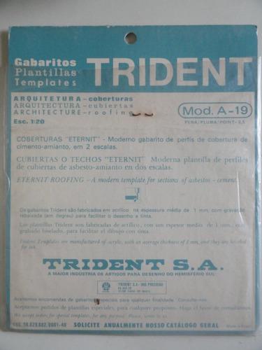 gabarito trident coberturas mod a-19 - telha cimento amianto