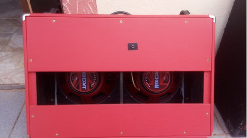 gabinete 2x12  falantes eminence red coat private jack top