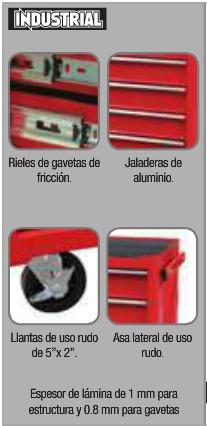 gabinete 5 gavetas uso industrial urrea oferta i27m5