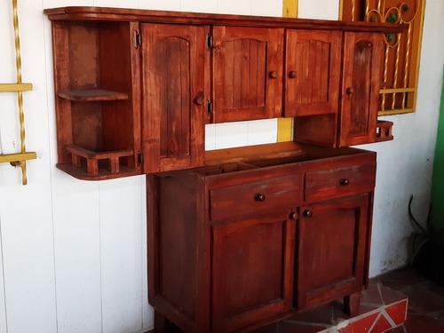 gabinete aéreo y fregadero de madera para cocinas...