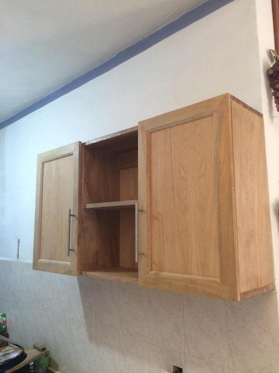 Gabinete alacena cocina integral puertas pared madera for Puertas para cocina integral