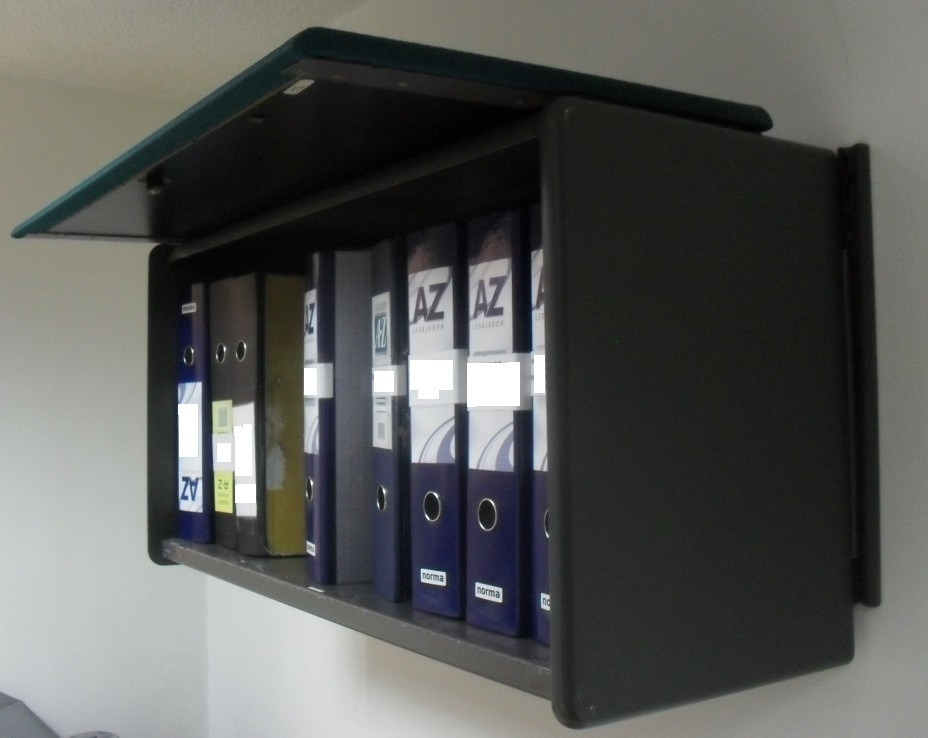Gabinete archivador oficina puerta retractil mueble de for Archivadores para oficina