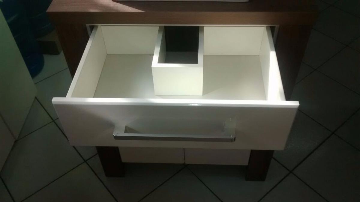 Gabinete  Armário Banheiro 50 Cm M130 Com Cuba E Espelheira  R$ 749,90 em M -> Cuba Banheiro Amoedo