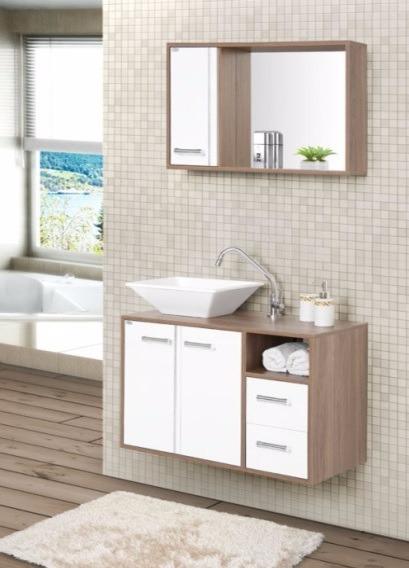 Gabinete arm rio banheiro cam lia 80 cm r 459 90 em for Armario 80 cm