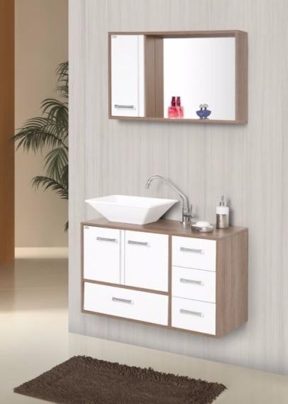 Gabinete arm rio banheiro hortensia 80 cm r 509 90 em for Armario 80 cm