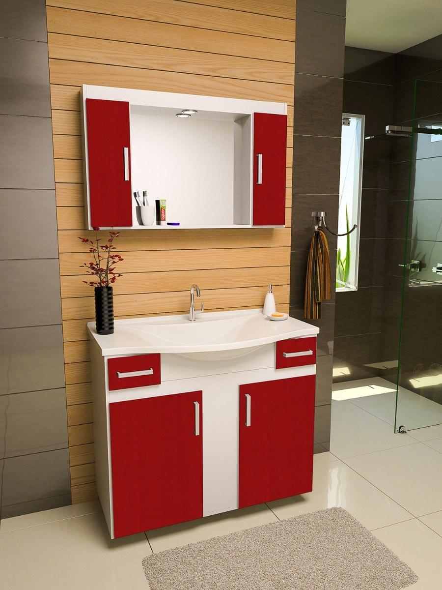 Gabinete arm rio banheiro san marino r 669 90 em - Armario de pared ...