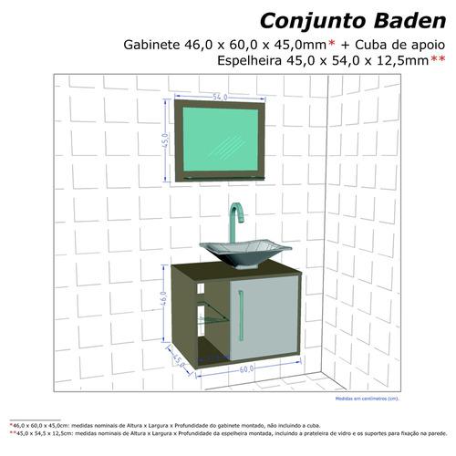 gabinete armario banheiro sena preto/branco c/ pia preta