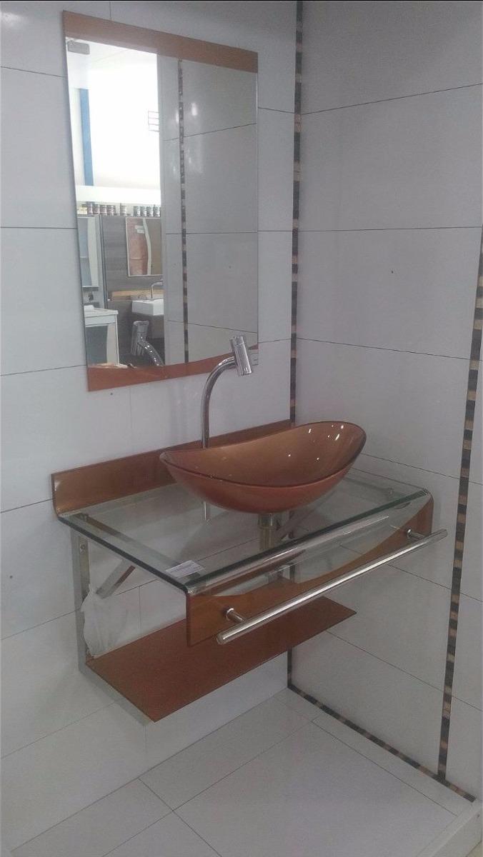 Gabinete  Armário Banheiro Vidro Espelho Dourado 70 X 56  R$ 1040,00 em Me -> Gabinete De Banheiro Vidro