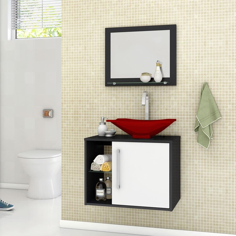 Gabinete Armario Para Banheiro Com Espelho E Pia