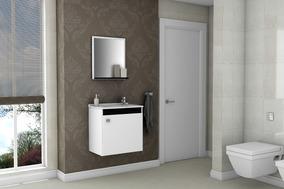 7682a49ef23 Gabinete Armário Para Banheiro Com Pia Siena Branco preto