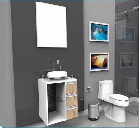 gabinete / armário para banheiro lisboa 50 alto padrão