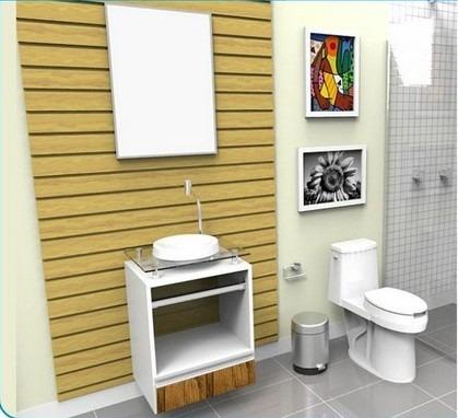gabinete / armário para banheiro paris 50 alto padrão