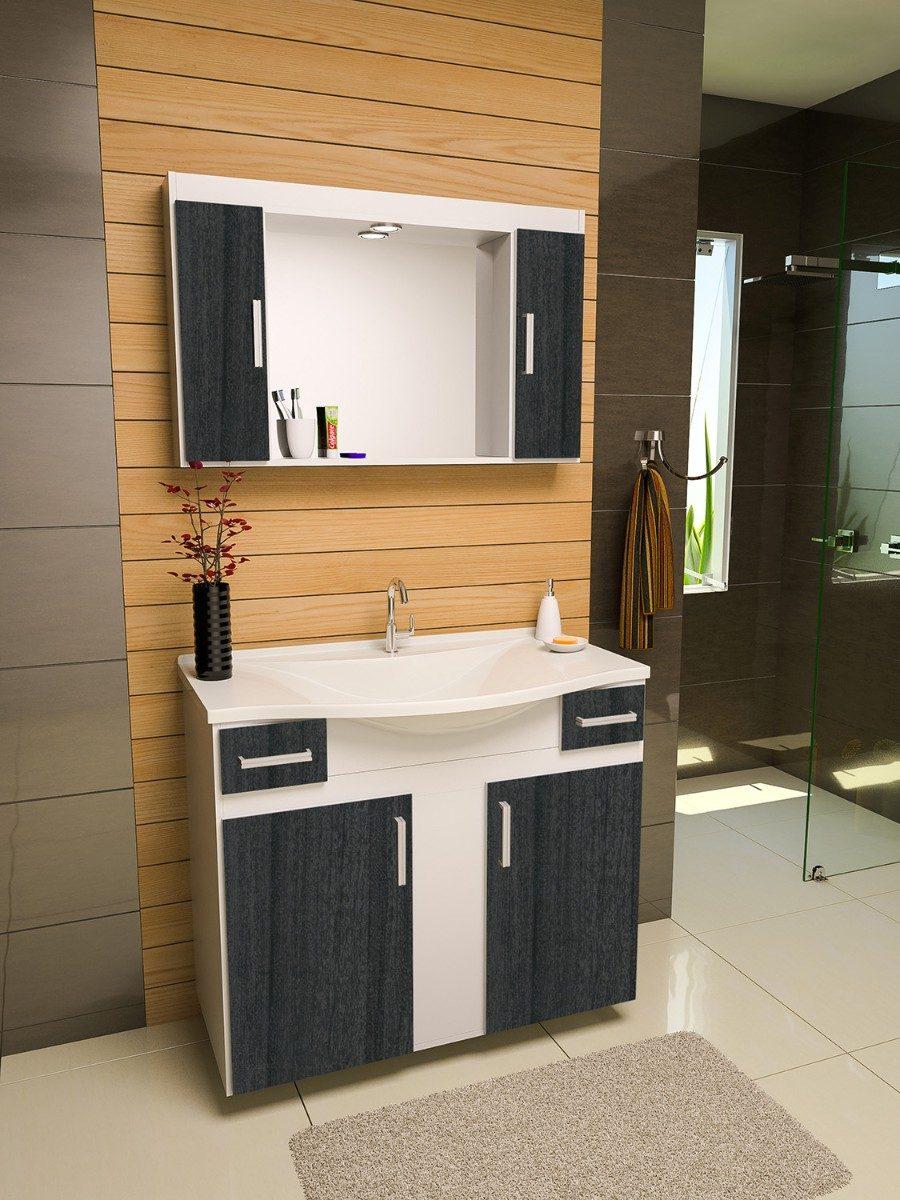 Gabinete arm rio para banheiro san marino r 649 90 em for Modelos de armarios modernos