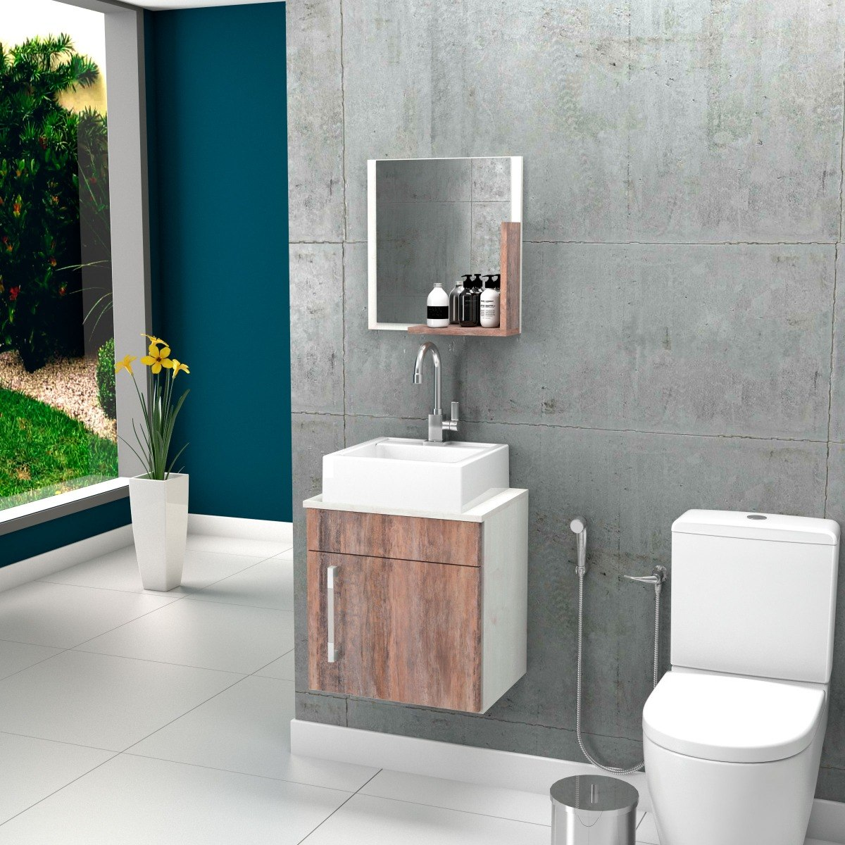 Armario De Banheiro Pequeno Simples De Moveis Para